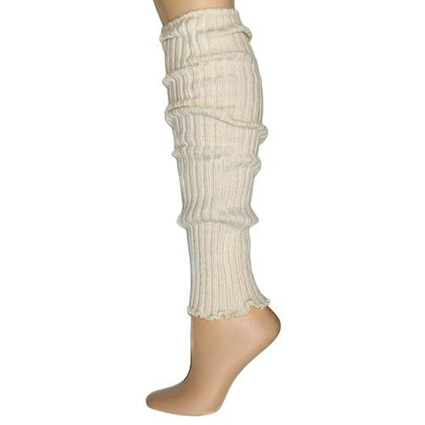 Ivory Ribbed Leg Warmers