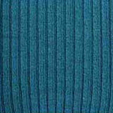Saxe Blue Wool Blend Ribbed OTKs Swatch