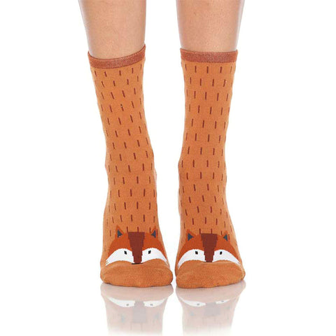 Fox Slipper Socks with Grips