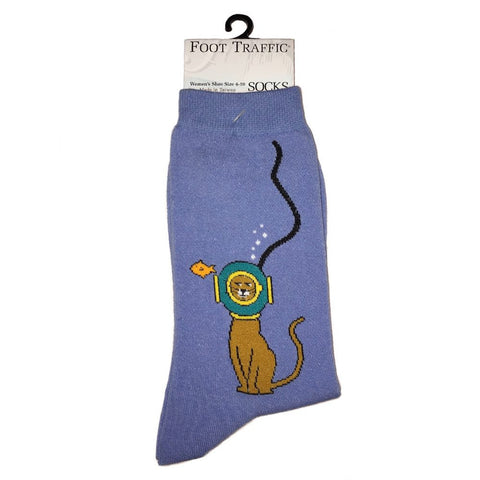 Scuba Kitty Crew Socks