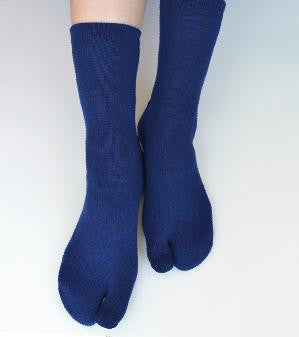 Solid Colour Tabi Socks - Blue