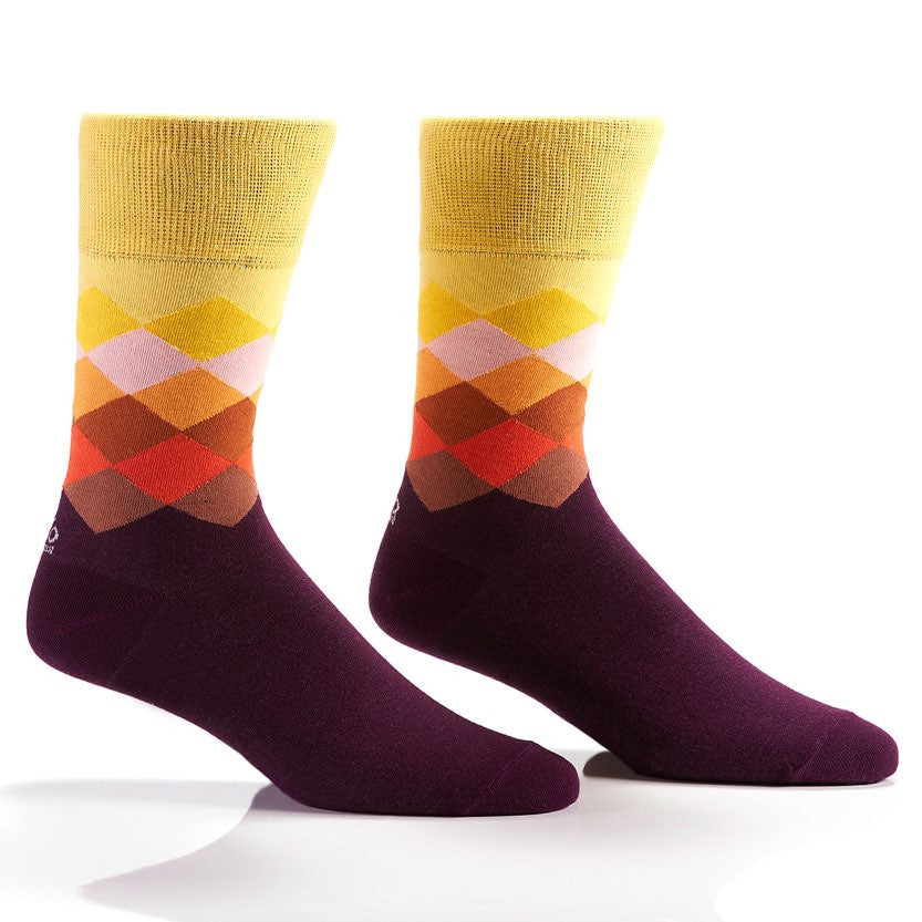 Sunset Rhombi Men's Crew Socks