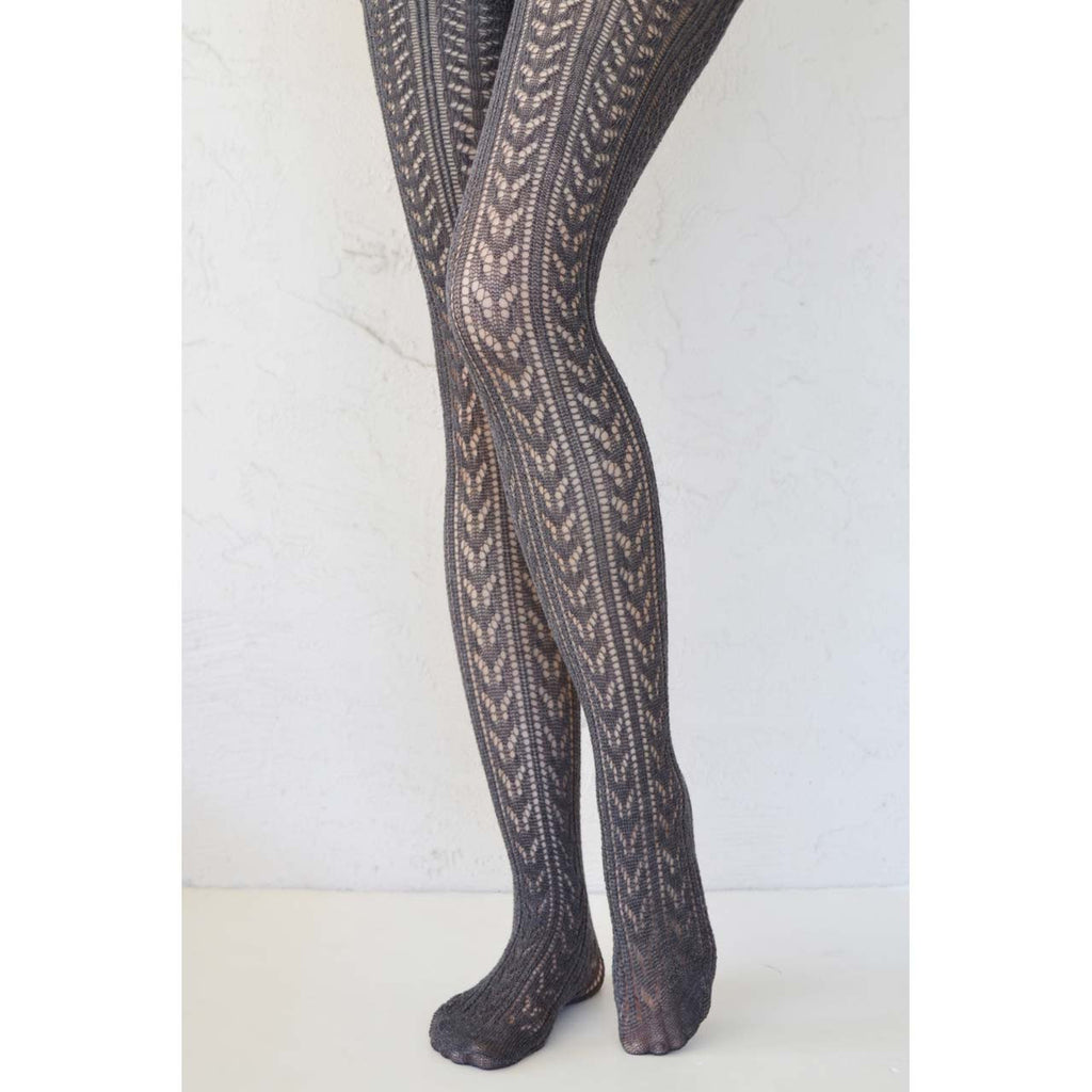 Middle Grey Crochet Tights