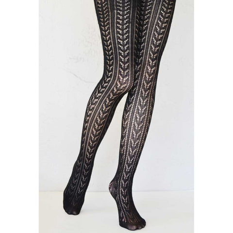 Black Crochet Tights