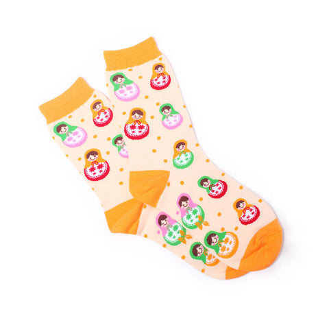 Matryoshka Crew Socks