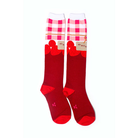 Strawberry Jam Knee High Socks