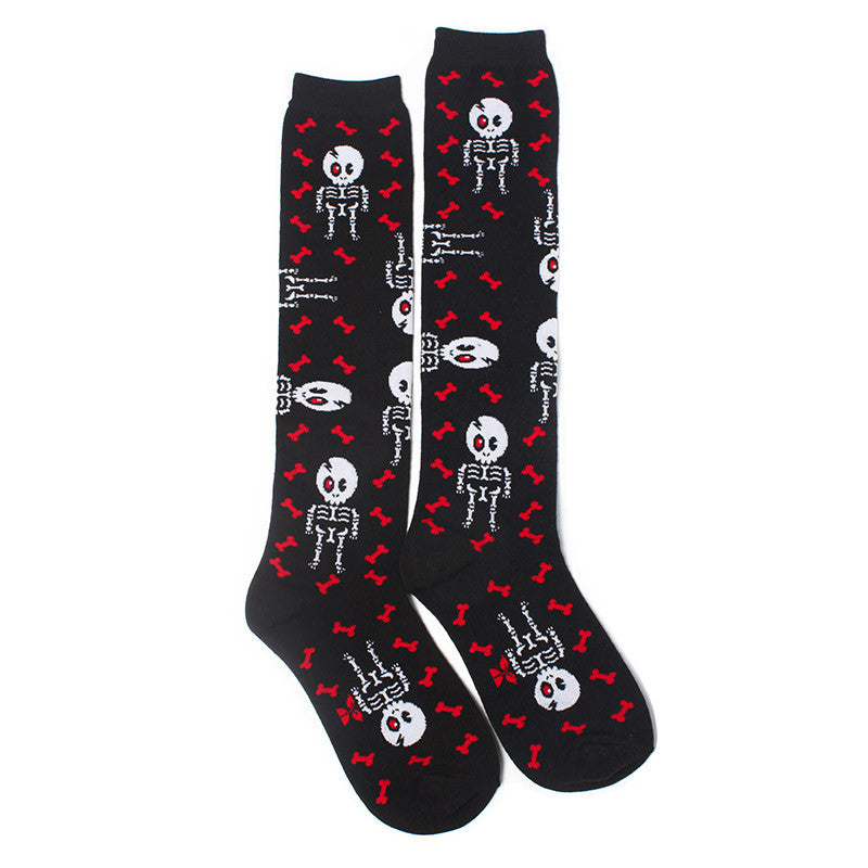Skeleton Terminator Knee High Socks