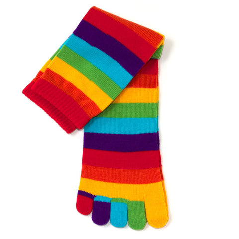 Rainbow Knee High Toe Socks