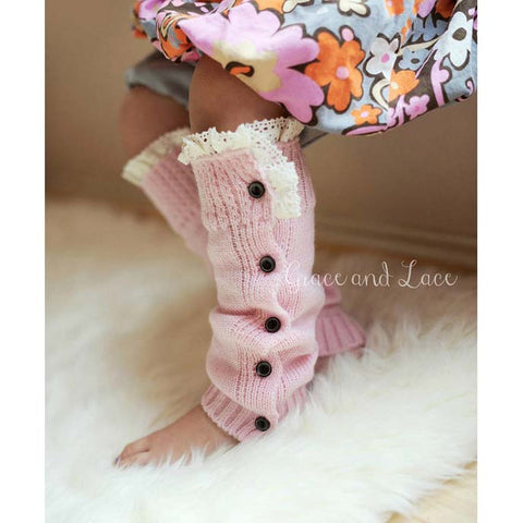 Mini Mollies Pink Leg Warmers for Kids