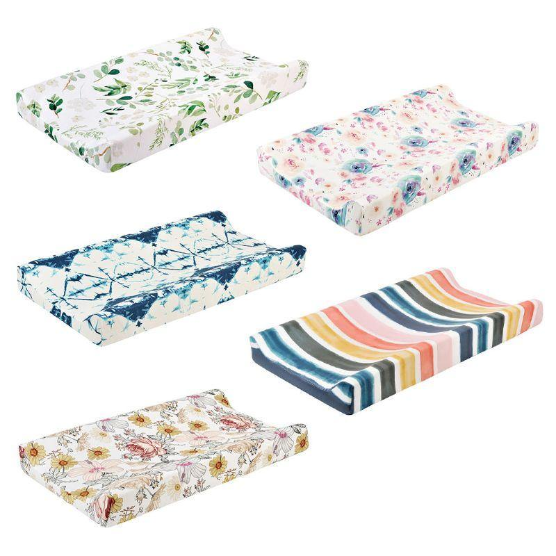 Baby Changing Pad Cover Floral Print Fitted Crib Sheet - Sanitizerworld