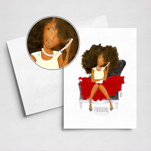 Little Red Dress Bday Card