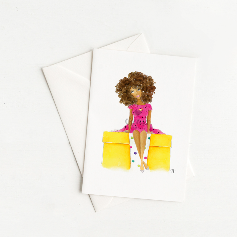 Well-gifted FroGirl Note cards