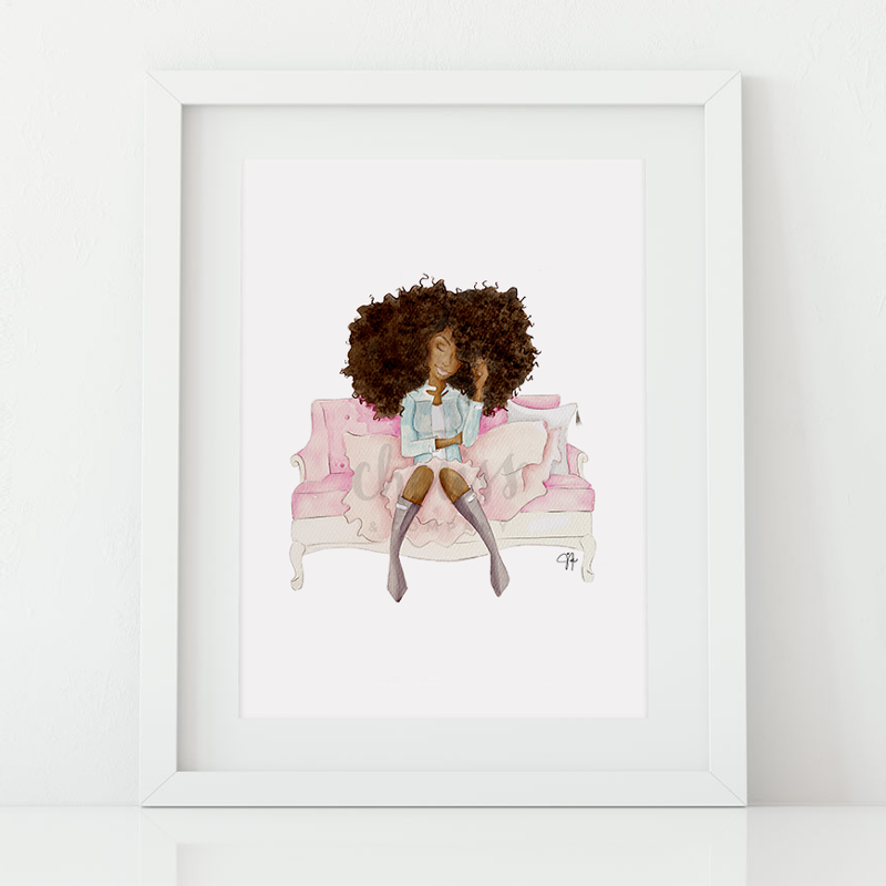 Sunshine & Bubbles Art Print