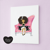 Little FroGirl Art Print