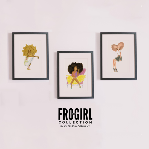 Red & Cream FroGirl Art Print