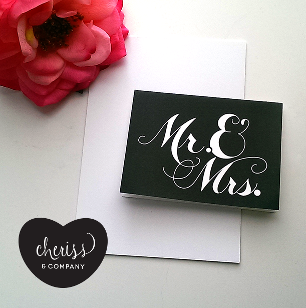 Mr. & Mrs. Wedding Notecards (set of 10)