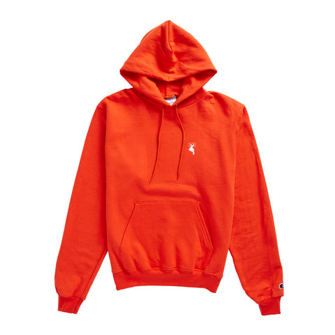 "Champion®  ""Finger Heart"" Hoodie - Orange"