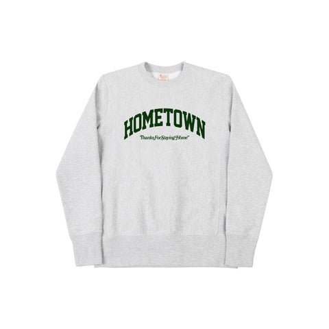 """HOMETOWN"" ThanksForStayingHome ™ <br> Champion Crewneck (GREY)"