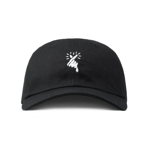 FINGER HEART HAT (BLACK)