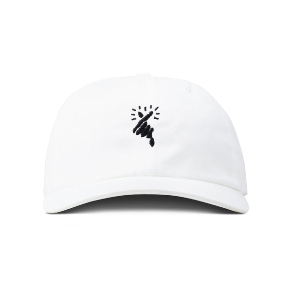 HEART x White Low Profile Hat