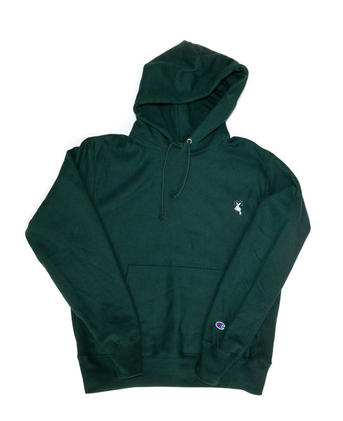 8MM FINGER HEART x CHAMPION HOODIE (GREEN)