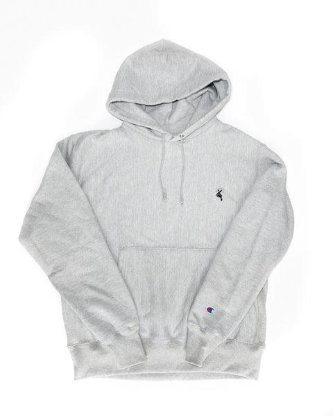 8MM FINGER HEART x CHAMPION HOODIE (GREY)
