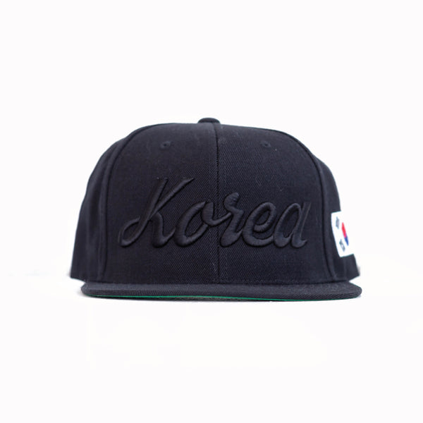 KOREA x ALL BLACK Snapback