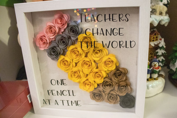 Teachers Change the World Shadow Box