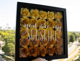 9x9 Custom Quote Paper Flower Shadow Box