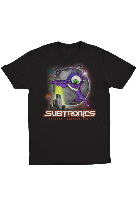 Subtronics - Cyclops Invasion Tour - Black Tee