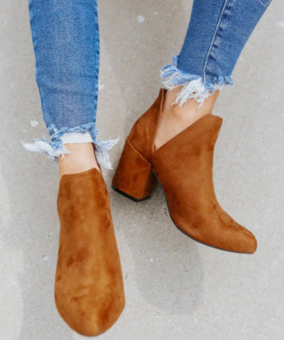 V-Cut Ankle Bootie