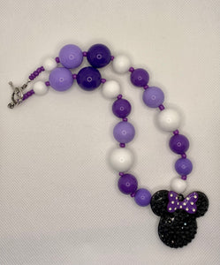 Purple Minnie Bubblegum Necklace