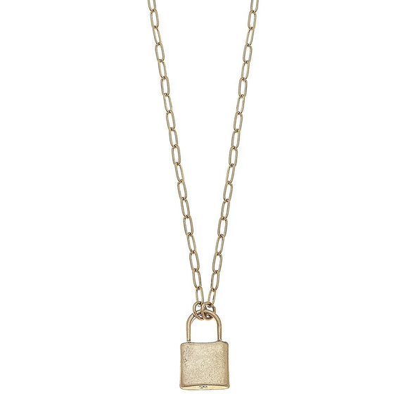 Emerson Padlock Paperclip Necklace