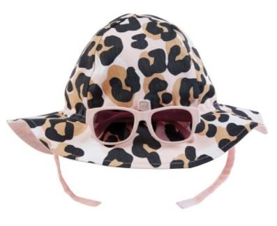Infant Leopard Sun Hat & Sunnies
