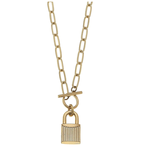 Stella Padlock Paperclip Necklace