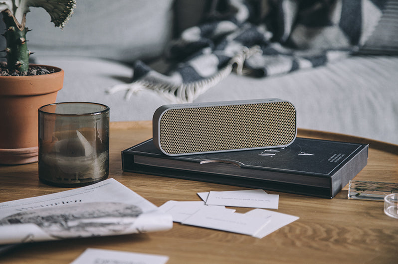 aGroove stylish speaker cool grey