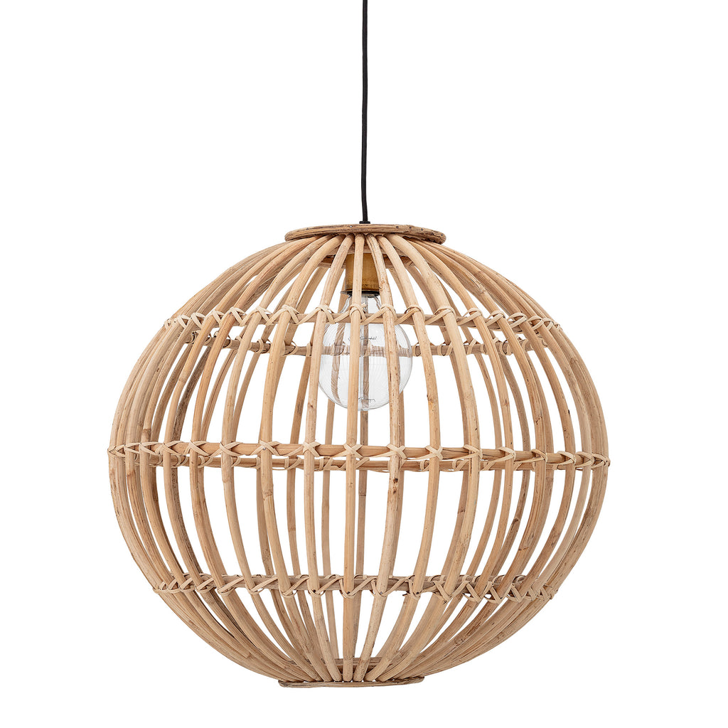 Pendant lamp in cane