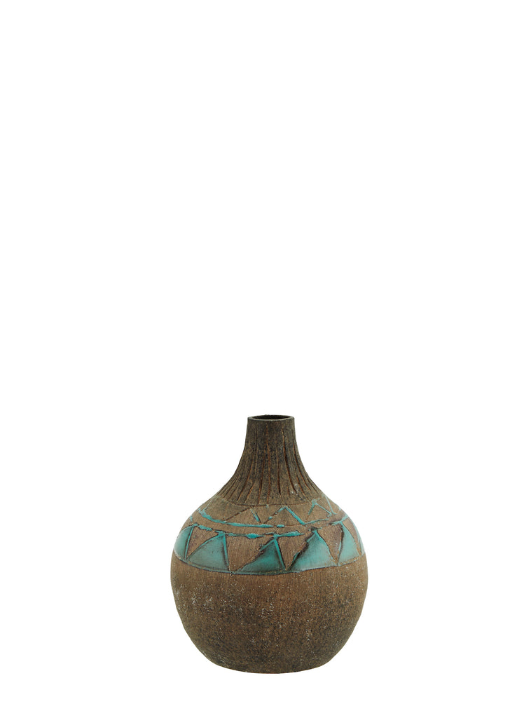 Rough terracotta vase