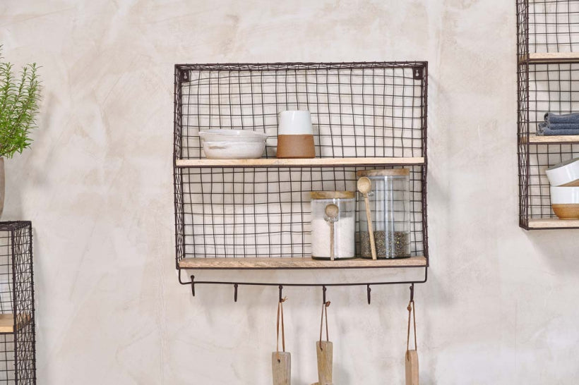 Tamba shelf with hooks