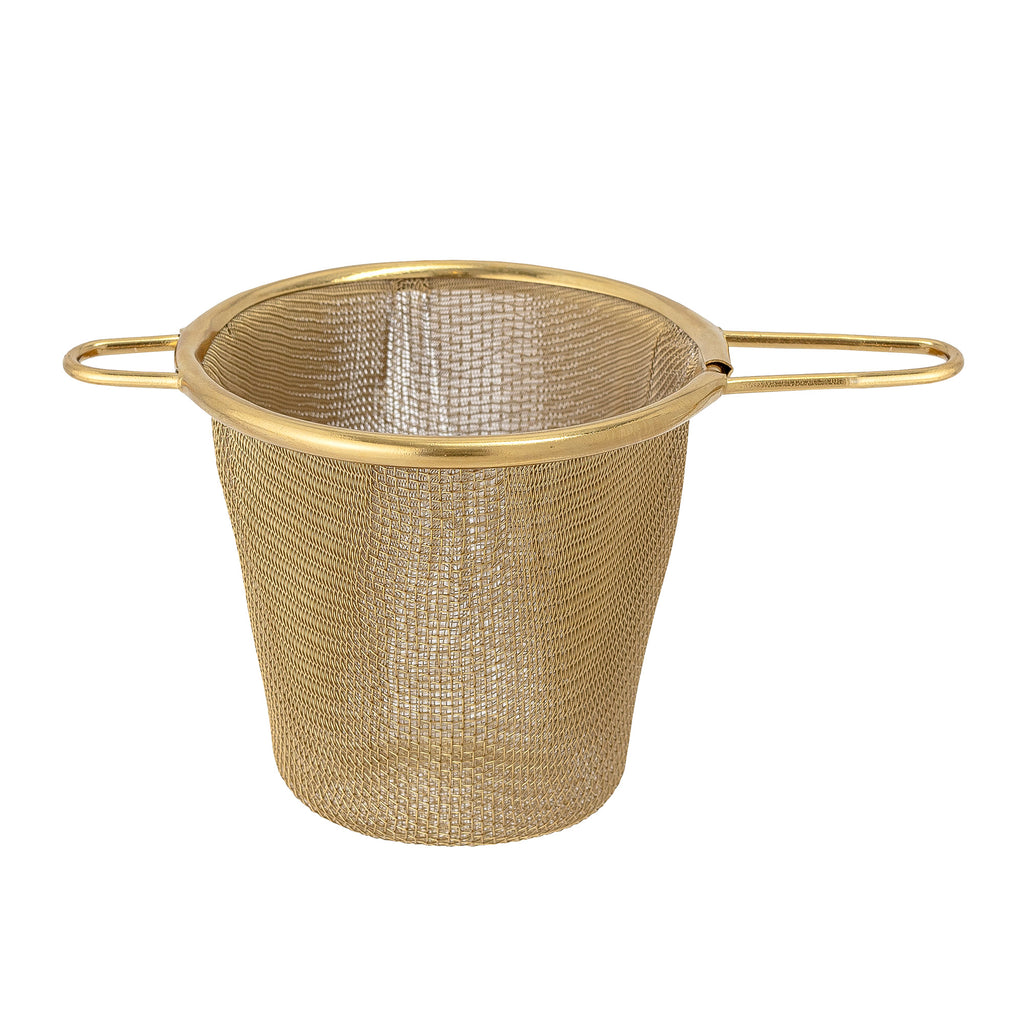 Tea strainer gold