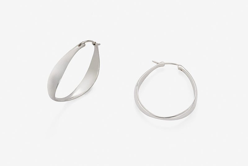Mirror hoop S earrings