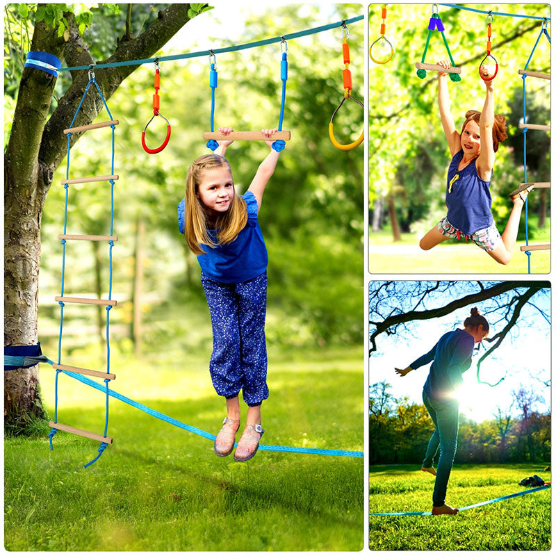 kids outdoor ninja obstacle course