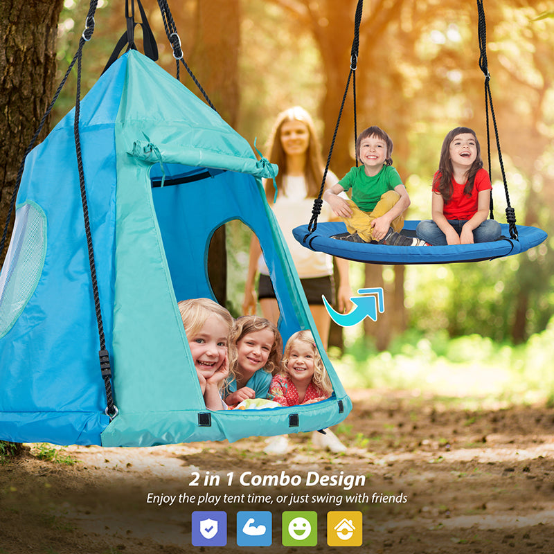 swing with tent for kids adults