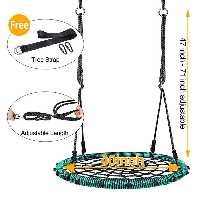 adjustable ropes for web swing