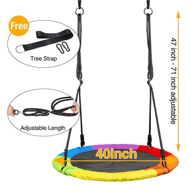 colorful and waterproof swing