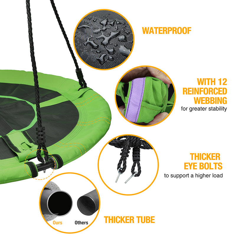 waterproof fabric for saucer swing