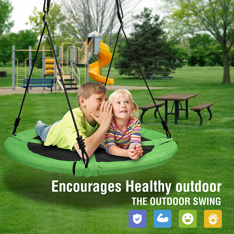 Green Outdoor Swing for kids