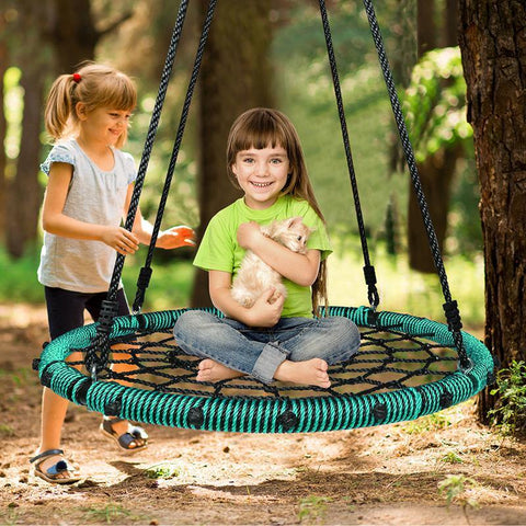 Outdoor web swing for kids