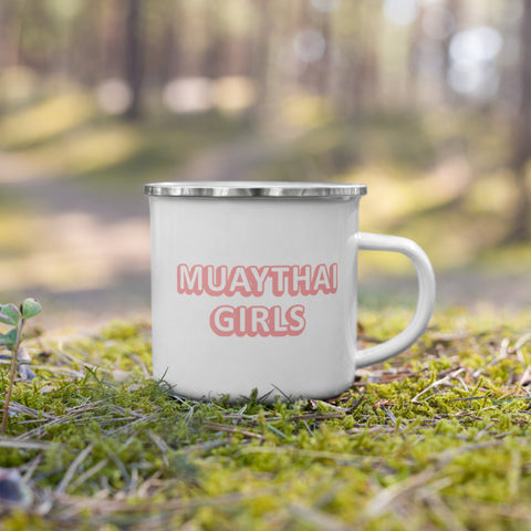 Muay Thai Girls Bubble Gum! Metal Mug