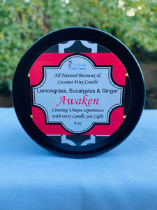 Travel Tin- Awaken- Lemongrass, Eucalyptus & Ginger